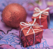 Christmas and New Year. Christmas decorations on abstract background Stock Photos