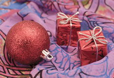 Christmas and New Year. Christmas decorations on abstract background Stock Images
