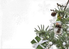 Christmas and New Year decorations with coniferous branches on a Stock Photography