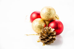 Christmas and new year decorations in festive holiday Stock Photos