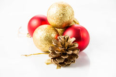Christmas and new year decorations in festive holiday Royalty Free Stock Images