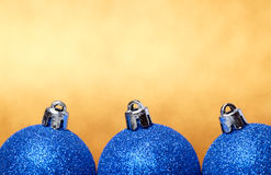 Christmas and New Year decorations on glitter background Royalty Free Stock Photo