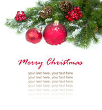 Christmas and New Year Decorations isolated Royalty Free Stock Photo
