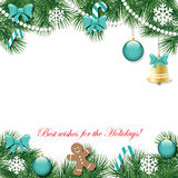 Christmas and New Year decorative background. Stock Photos