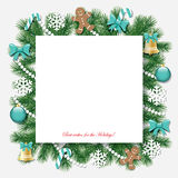 Christmas and New Year decorative background. Stock Image