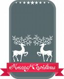 Christmas and New Year deer card Stock Images