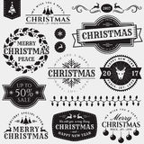 Christmas and New Year design elements. Royalty Free Stock Photography