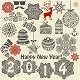 Christmas  and New Year Design Elements Stock Photography