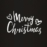 Christmas and New Year design lettering. Hand drawn sign for greeting card, invitation. Stock Photo