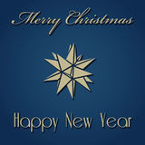 Christmas New Year Design. Merry Christmas Happy New Year Vector Illustration Royalty Free Stock Photos