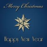 Christmas New Year Design. Merry Christmas Happy New Year Vector Illustration Stock Illustration