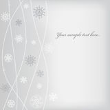 Christmas (New Year) design with snowflake Royalty Free Stock Photo