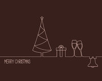 Christmas and New Year design Stock Images