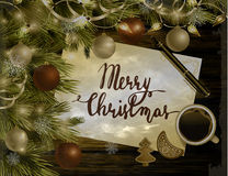 Christmas New Year design wooden background Royalty Free Stock Photo