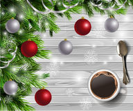 Christmas New Year design wooden background Stock Images