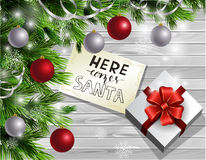 Christmas New Year design wooden background Royalty Free Stock Image