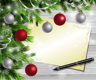 Christmas  New Year design wooden background Royalty Free Stock Images