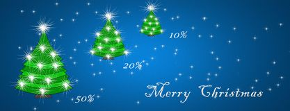 Christmas and New Year, discount card concept, discounts.  royalty free illustration
