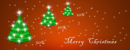 Christmas and New Year, discount card concept, discounts.  vector illustration