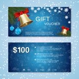 Christmas and New Year discount coupon Royalty Free Stock Images