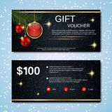 Christmas and New Year discount coupon Stock Images