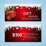Christmas and New Year discount coupon Stock Photos