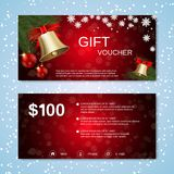 Christmas and New Year discount coupon Stock Image