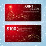 Christmas and New Year discount coupon Royalty Free Stock Image