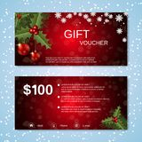 Christmas and New Year discount coupon Royalty Free Stock Photo