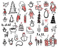 Christmas and new year doodle illustration Stock Photo