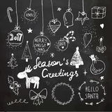 Christmas and New Year doodles collection. Vector Illustration. Freehand drawing Stock Photo