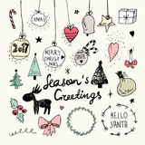 Christmas and New Year doodles collection Royalty Free Stock Photography