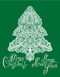 Christmas and New Year Element -  lace fir tree Royalty Free Stock Photo