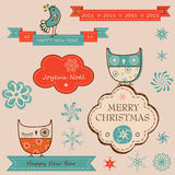 Christmas and new year elements Stock Photography