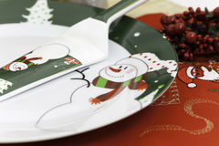 Christmas and New Year Eve plate Stock Photo