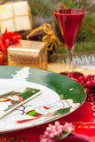 Christmas and New Year Eve plate Royalty Free Stock Image