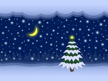 Christmas and New Year fairy vector seamless background Royalty Free Stock Photography