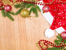 Christmas and New Year festive background Stock Image