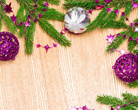 Christmas and New Year festive background Royalty Free Stock Photos