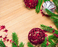 Christmas and New Year festive background Stock Photos