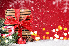 Christmas or New Year festive background Royalty Free Stock Image