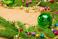 Christmas and New Year festive background Stock Photography