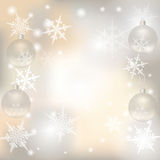 Christmas, New Year festive background for greeting cards. Silver balls illustration. Christmas, New Year festive background for greeting cards. Silver balls Stock Photos