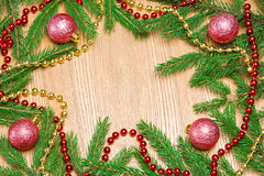 Christmas and New Year festive frame background Stock Images