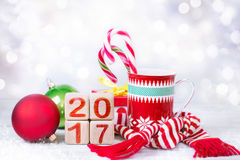 Christmas new year figures icon winter blur. Royalty Free Stock Images