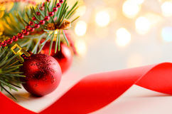 Christmas and new year fir-tree Royalty Free Stock Image