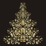 Christmas or new year floral tree Royalty Free Stock Images