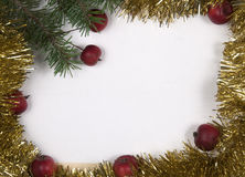 Christmas and New Year frame border background Stock Photos