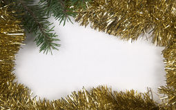 Christmas and New Year frame border background Royalty Free Stock Photos