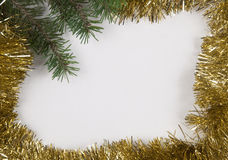 Christmas and New Year frame border background Royalty Free Stock Photography